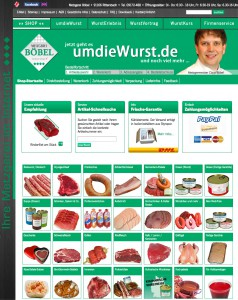 Screenshot von umdiewurst.de
