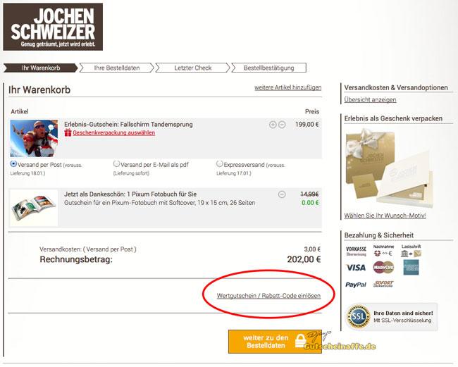 Gutschein Verkaufen Jochen Schweizer