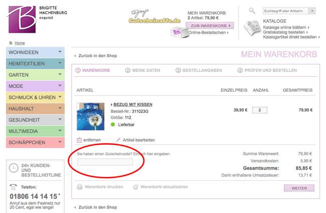 Brigitte hachenburg gutschein juli 2018 rabatt code for Brigitte hachenburg gutschein